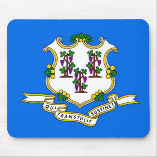 Mouse pad with Flag of Connecticut State - USA