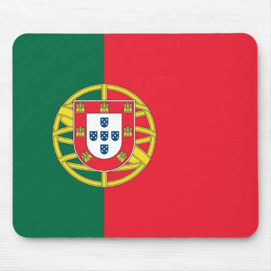 Mouse pad with Flag of Portugal