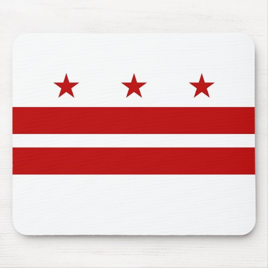 Mouse pad with Flag of Washington DC -