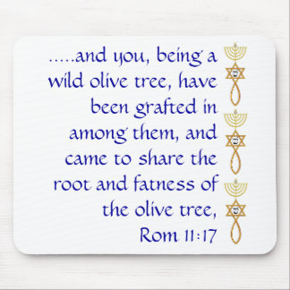 Mouse pad with grafted in seal and scripture