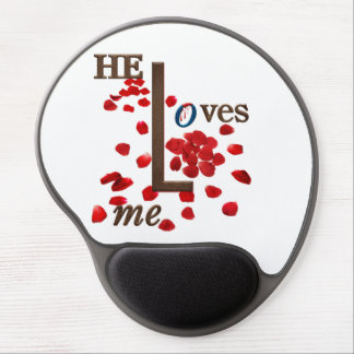 mouse pad with love message on red rose petals gel mouse pad