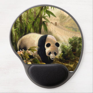 Mouse Pad with Panda and Great Wall of China Gel Mouse Pad