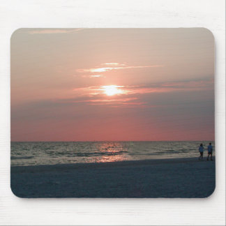 mouse pad with photo of beautiful sunset