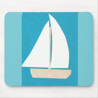Mouse Pad with Sailboat Design