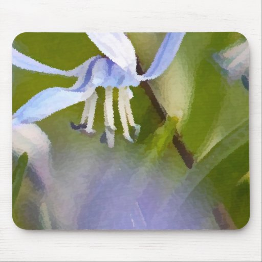 Mouse Pad with Soft Blue Flowers