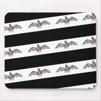 mouse pad with vintage halloween bat graphic