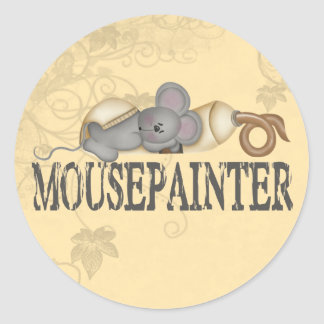 Mouse Painter Classic Round Sticker