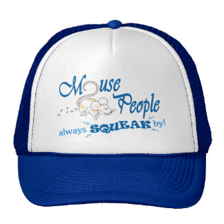 """""""Mouse People"""" (blue text) Trucker Hat"""