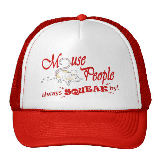 """Mouse People"" red text Mesh Hat"