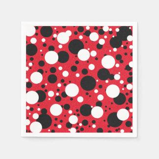 Mouse Red Black Party Polka Dot Cocktail Napkins Paper Napkin