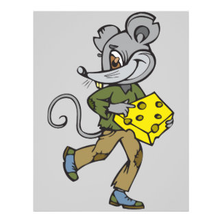 Mouse Runs With Cheese 21.5 Cm X 28 Cm Flyer