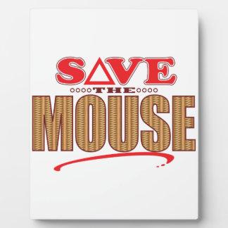 Mouse Save Photo Plaques