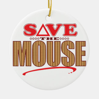 Mouse Save Round Ceramic Decoration