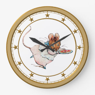 Mouse Stealing Cookies Wall Clock