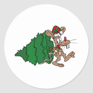 Mouse Stealing Tree Stickers