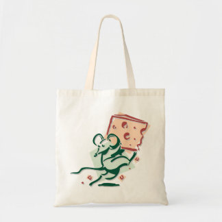 Mouse Taking Cheese Tote Bag