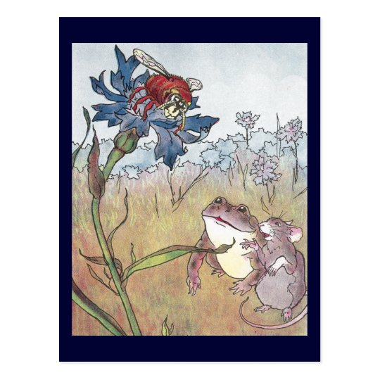Mouse, Toad & Hornet in Meadow Postcard
