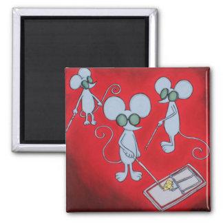 Mouse Trap Square Magnet