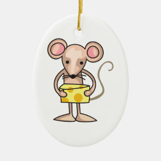 MOUSE WITH CHEESE CHRISTMAS ORNAMENT