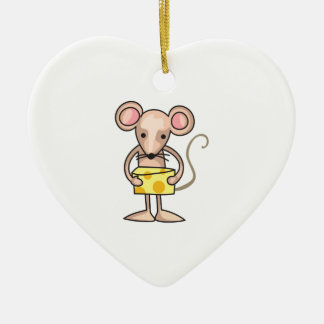 MOUSE WITH CHEESE ORNAMENTS