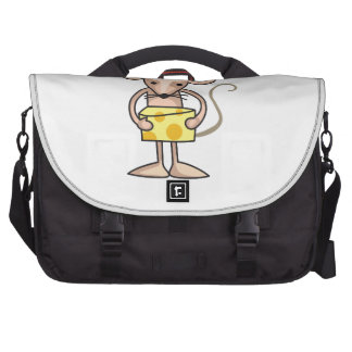MOUSE WITH CHEESE LAPTOP COMMUTER BAG