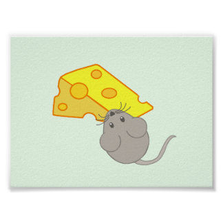 Mouse with Cheese Poster