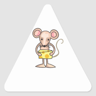 MOUSE WITH CHEESE TRIANGLE STICKER