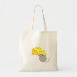 Mouse with Cheese Canvas Bags