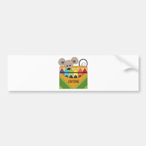 mouse with crayons bumper sticker