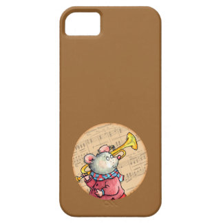 Mouse with Trumpet on Sheet Music- iPhone 5 Case