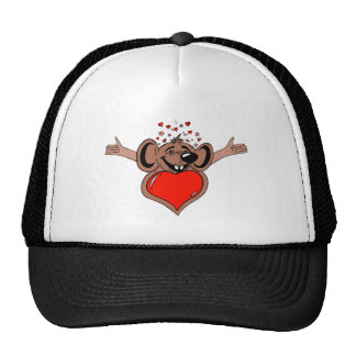 Mouse with Valentine's heart Cap