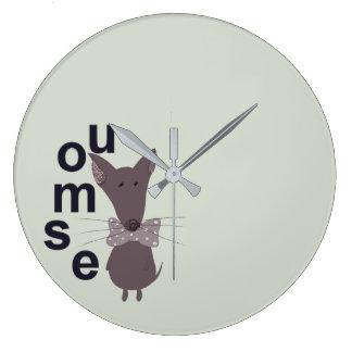 Mouse Woodland Creature Large Clock