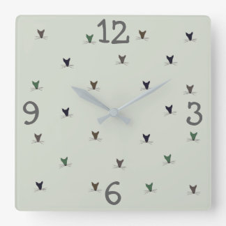 Mouse Woodland Creature Square Wall Clock
