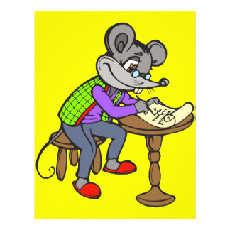 Mouse Writing Letter 21.5 Cm X 28 Cm Flyer