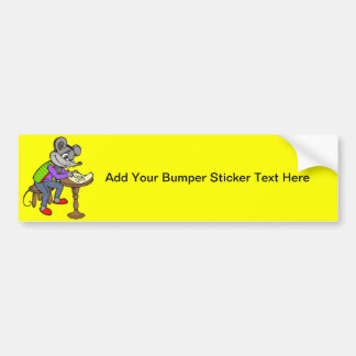 Mouse Writing Letter Bumper Sticker