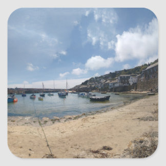 Mousehole Harbour Square Sticker