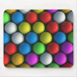 Mousemat | Array of Coloured Golf Balls