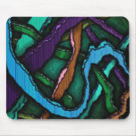 Mousemat Dark Scribbles Abstract Design Mouse Pads