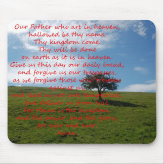 Mousemat Lords Prayer