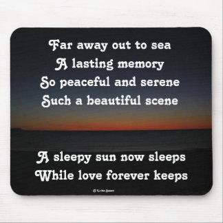Mousepad A Sleepy Sun Sleeps Poem By Ladee Basset