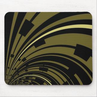 Mousepad Black Green Gold Deco
