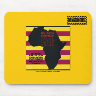 Mousepad Black Randy Idi Amin Dangerhouse LIGHT