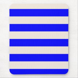 Mousepad - Blue & Buttermilk Cream - Broad Stripes