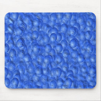 Mousepad - Blue Paint-Bubbles effect