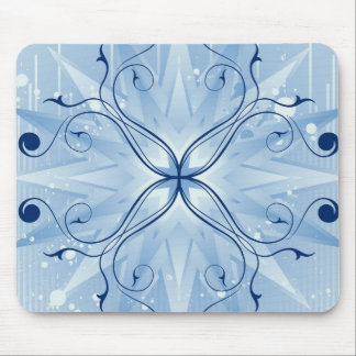 Mousepad | Blue Star Burst with Vines