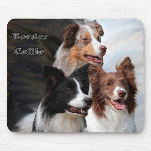 mousepad border collie triumvirate
