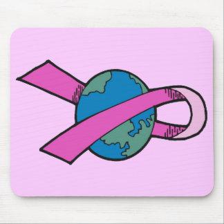 Mousepad - Breast Cancer World Ribbon