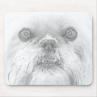 "Mousepad Brussels Griffon Dog ""Ewok"""