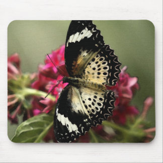 Mousepad Butterfly and flowers