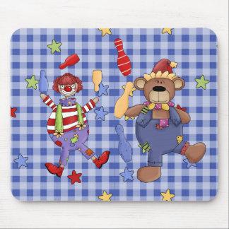 Mousepad Circus Clowns